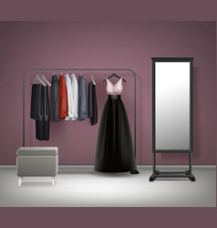 cloakroom interior front view vector image