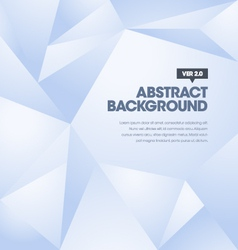 Polygonal background blue vector