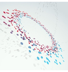 Bright abstract transparent circle element vector image