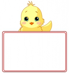 Chicken place card vector
