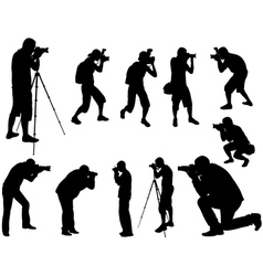Photographers vector