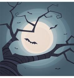 Halloween tree vector