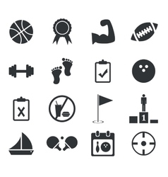 Sport icon set 1 simple vector