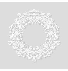Elegant paper retro floral frame vector image