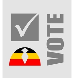 Vote text with check mark and human icon vector
