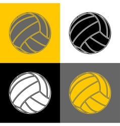 Volleyball-background-sport vector image