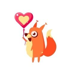 Squirrel Party Animal Icon vector image