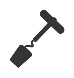 Corkscrew bar utensil icon vector