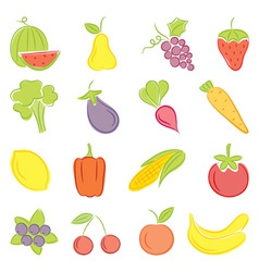 a set of hand drawing food vector image vector image