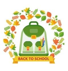 Back to school bag leavs vector