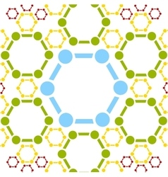 Background of molecule structure medical vector