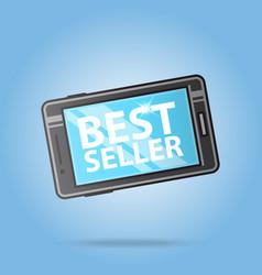 best seller smartphone logo template sale design vector image vector image