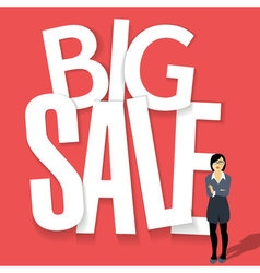 Big sale poster design vector image vector image