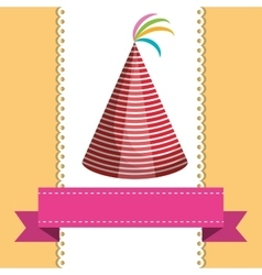 Birthday party hat vector