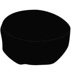 Black kippah vector image