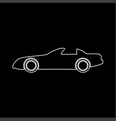 Car white color path icon vector