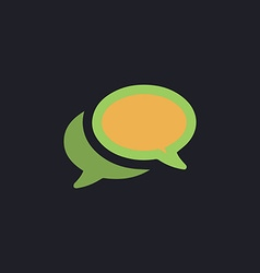 Chat computer symbol vector image vector image