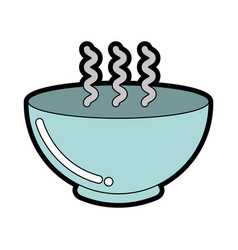 Cute bowl graphic design vector