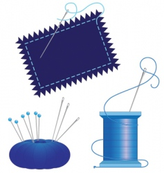 denim needle thread vector image vector image