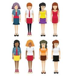 Faceless women template vector image vector image