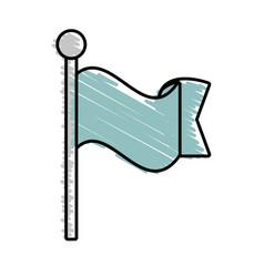 flag ornament symbol image vector image vector image