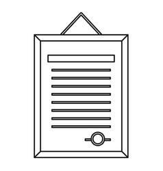 Form icon outline style vector