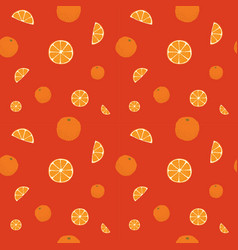 Fruits oranges seamless patterns vector