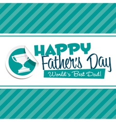 Happy Fathers Day Emblem vector image vector image