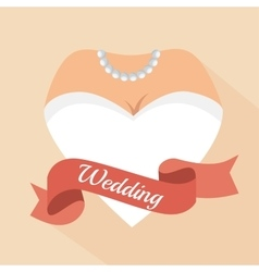 heart form woman letter wedding vector image
