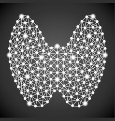 human thyroid isolated on a black background vector image
