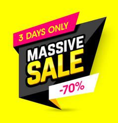 massive sale banner vector image vector image