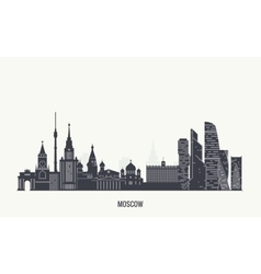 Moscow skyline silhouette vector image