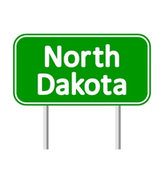North dakota green road sign vector