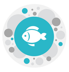 Of meal symbol on fish icon vector