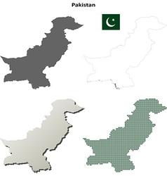 Pakistan outline map set vector