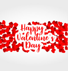 Red hearts background for valentines day vector
