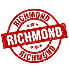 Richmond red round grunge stamp vector