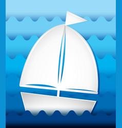 Sailboat sailing at sea vector