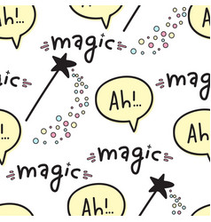 seamless pattern with magic wands fantasy and vector image vector image