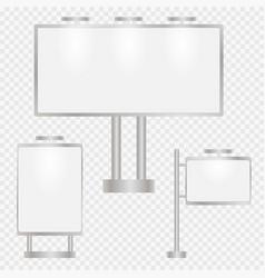 Set of advertising vector