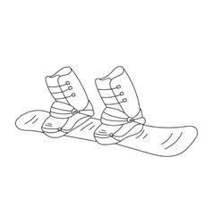 Snowboard line icon vector image