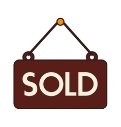 Sold sign offer buy isolated vector