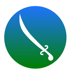 sword sign white icon in vector image