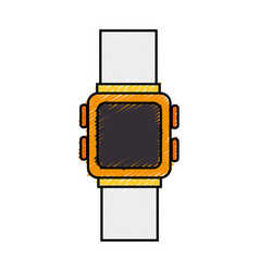 Time wristwatch isolated icon vector