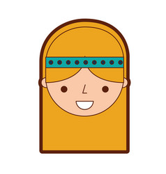 Woman hippie lifestyle character vector