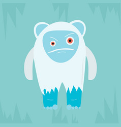 Yeti evil character vector