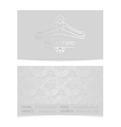 Yoga business card vector