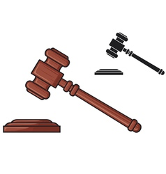 Judge gavel - hammer of judge or auctioneer vector