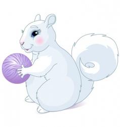 white squirrel vector image