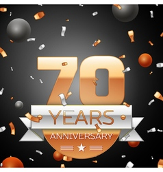 Seventy years anniversary celebration background vector